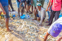 Der Fischmarkt von Galle Stockfotos