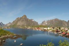 Der Fjord von Reine Lizenzfreies Stockbild