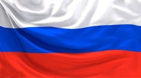 Der Flaggenfahne 3d Russlands russische Wiedergabe lizenzfreie abbildung