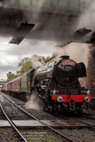 Der Fliegen Scotsman auf der Ost-Lancashire-Eisenbahn lizenzfreie stockfotos