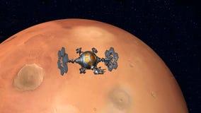 Der Flug zu Mars Stockfoto