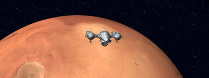 Der Flug zu Mars Stockfotos
