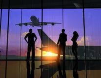 Der Flughafen Stockbild