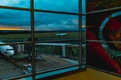 Der Flughafen Stockfotografie