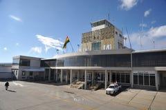 Der Flughafen von La Paz Stockbild