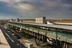 Der Flughafen von Madrid Stockfotos