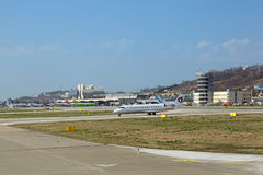 Der Flughafen von Sochi Stockbilder
