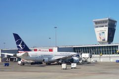 Der Flughafen Warschaus Chopin (WAW) Lizenzfreies Stockbild