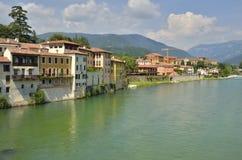 Der Fluss Brenta in Italien Lizenzfreies Stockbild