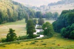 Der Fluss Brenz im Eselsburger-Tal Eselsburger Tal stockfotografie