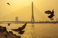 Der Fluss Chao Praya in Bangkok lizenzfreies stockfoto