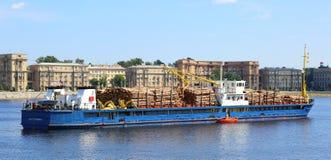 Der Fluss das Schiffsbauholz stockfotografie