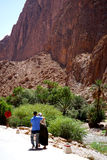 Der Fluss des Todra sättigt sich in Marokko Lizenzfreies Stockfoto