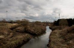 Der Fluss Douglas, Wigan stockbild