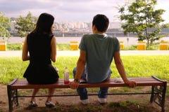 Der Fluss Han Seoul, hangang lizenzfreie stockfotografie