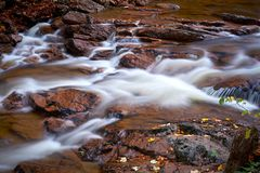 Der Fluss Ilse im Nationalpark Harz Stockfotografie