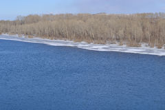 Der Fluss im Früjahr Stockbilder