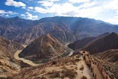 Der Fluss Jinsha Lizenzfreies Stockbild