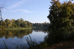 Der Fluss Neman in Druskininkai Stockbild