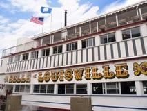 Der Fluss Ohio in Louisville Kentucky Lizenzfreie Stockbilder