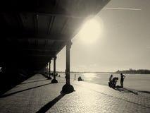 Der Fluss Schelde, Antwerpen Stockfotografie