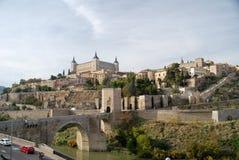 Der Fluss Tage von Toledo in Spanien Stockbild