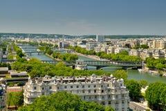Der Fluss von Paris Stockbild
