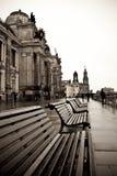 Der Flussdamm in Dresden Lizenzfreie Stockfotos