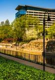 Der Flussufer-Kanal-Weg in Richmond, Virginia lizenzfreie stockbilder