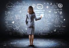 Der Fokus ist nur auf der WortGeschäftsstrategie, im Rot Lizenzfreie Stockfotografie