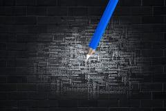 Der Fokus ist nur auf der WortGeschäftsstrategie, im Rot Lizenzfreies Stockbild