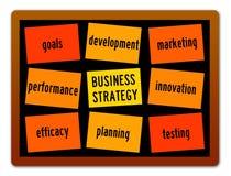 Der Fokus ist nur auf der WortGeschäftsstrategie, im Rot stock abbildung