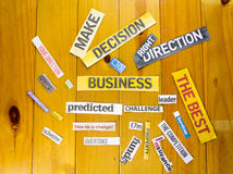 Der Fokus ist nur auf der WortGeschäftsstrategie, im Rot Stockfoto