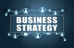 Der Fokus ist nur auf der WortGeschäftsstrategie, im Rot Stockbild