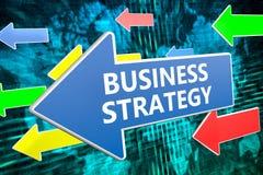 Der Fokus ist nur auf der WortGeschäftsstrategie, im Rot Stockfotografie