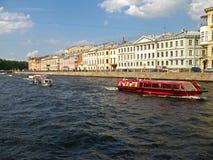Der Fontanka-Fluss, St Petersburg Stockbilder