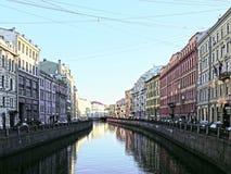 Der Fontanka-Fluss St Petersburg Stockbild