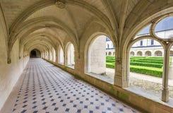 In der Fontevraud-Abtei Lizenzfreies Stockfoto