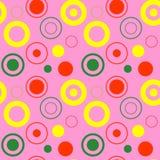 Der Formkunst des farbigen Kreises Muster-Vektorillustration des geometrischen grafischen Hintergrundes nahtlose Stockfotografie