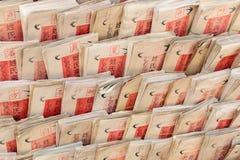 Der fortunetelling Vorstand des traditionellen Chinesen stockfoto