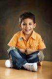 Der fröhliche Junge Lizenzfreies Stockfoto