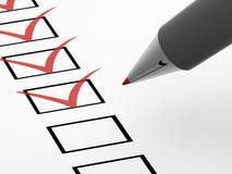 Der Fragebogen Lizenzfreies Stockbild