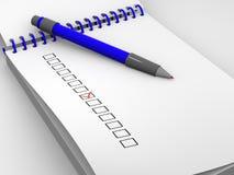 Der Fragebogen Lizenzfreie Stockbilder