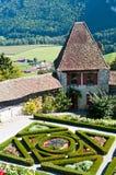 Der französische Garten am Gruyere Stockbilder