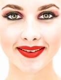 Der Frauenabschluß, der oben gerade schauen und Lächeln Lizenzfreies Stockbild
