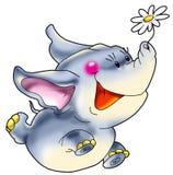 Der freundliche, glückliche Elefant h Stockbild