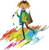 Der freundliche kleine Mann - der Bleistift Lizenzfreie Stockfotos