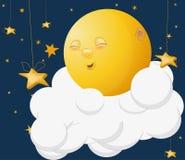 Der freundliche Mond Lizenzfreies Stockbild