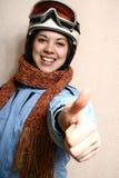 Der freundliche Skifahrer. Stockbilder
