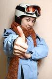 Der freundliche Skifahrer. Lizenzfreie Stockfotos